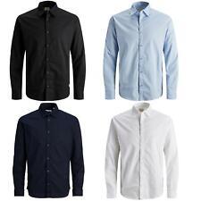 Mens Formal Shirts Jack & Jones Long Sleeve Button Up Plain Office Work Shirt