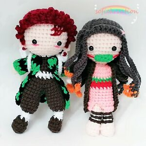 Amigurumi Nezuko Kamado,Demon Slayer doll,Amigurumi Demon Slayer,Tanjiro Kamado