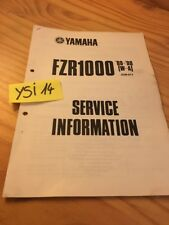 Yamaha FZR1000 W 1989 A 1990 FZR 1000 service information technique data