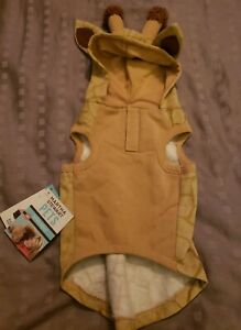 "NEW Halloween Martha Stewart Pet Dog GIRAFFE Hoodie M Medium 13"""