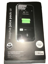 Mophie Juice Pack Air for Apple iPhone 4 4S Charger Battery Case - Black New OEM