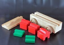 Vintage Solid Wood Toy Wheeled Vehicle with Shaped Blocks