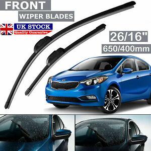 """For 2010-2021 Honda Hyundai 26"""" 16"""" Car Front Windscreen Flat Aero Wiper Blade"""