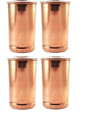 4X Glasses Pure Copper Tumblers Ayurvedic Water Drinking Copper Glasses New