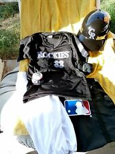 Colorado Rockies M 7-10 Jersey Helmet Ball Pants Socks Uniform Costume Franklin
