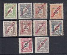 Cape Verde, Cabo Verde 1911 REPUBLICA postage due set MH - SG D135etc