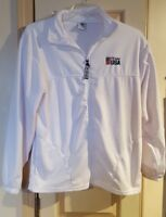 Team USA Olympic Committee White Track Jacket Mens Size Large