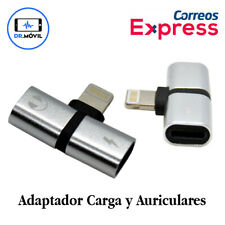 Adaptador Lightning 2 en 1 iPhone X XS MAX 7 8 Plus Auriculares Cargador Audio
