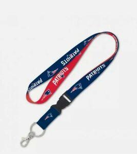 New England Patriots Lanyard Keychain ID Holder