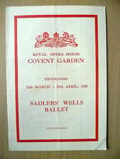 Sadlers' Wells Ballet Programme 1950- 13th March-29th April 1950
