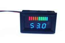 LED ACID Lead Battery Capacity Indicator Charge Level Voltmeter Meter Tester