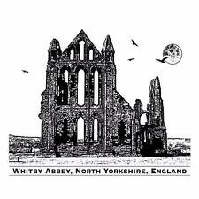 Crafty Individuals WHITBY ABBEY Unmounted Red Rubber Stamp