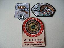 2017 - 2019 Michigan Successful Dnr Turkey Hunting Patches - Deer - Bear - Elk