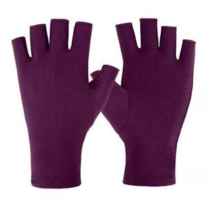 Summer Stretch Thin Sunscreen Gloves Ice Silk Half-finger Gloves Women Mittens u