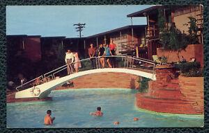 Jack Tar Hotel Swimming Pool Galveston Texas tx postcard