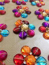 Multi Rhinestone Applique,Motif,edging,trim,sequins,beads 1 X (7.5 cm Approx)