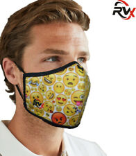 Smiley Face Mask Breathable Cotton Washable Reusable Adjustable Pollution UK