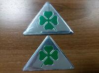 Set of 2pcs QUADRIFOGLIO VERDE cloverleaf Alfa Romeo 147 156 159 Emblem Insignia