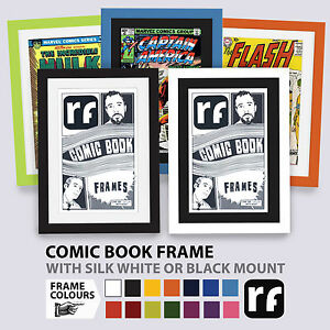 Comic Book Picture Frame Wood Black White Colours UV99 Picture FRAMES Marvel DC