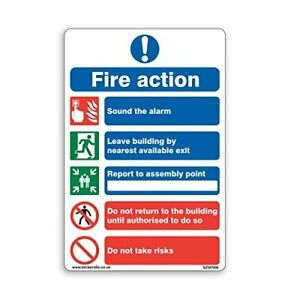 General Fire Action Sign - A5 [150mm x 200mm] Adhesive Sticker