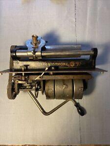Columbia BF Graphophone Quadruple Spring Motor Bedplate Crank Reproducer Mandrel