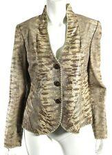 GIORGIO ARMANI Lizard Embossed Lambskin Leather Button-Front Jacket 44