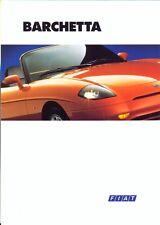 FIAT BARCHETTA 1995 mercato del Regno Unito BROCHURE DI VENDITA