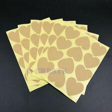35mm Vintage Blank Heart Shape Handmade Sticker Gift Kraft Craft Stickers 240pcs