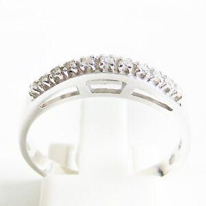 Ring Weißgold 585er Diamanten Goldschmuck 14 kt Damen Edelstein Ehering