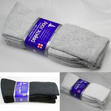 12 Pair New Diabetic Crew Circulatory Socks Health Mens Size 10-13 9-11 LOT