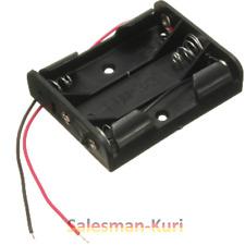 DE ! 3AAA Akkufach Batteriefach Schwarz Reihenschaltung Batterie 4,5V Akku 3,6V