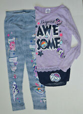 NWT My Little Pony Girls Large 10/12 Leggings Long Sleeve Shirt/Top 2 Pc Set