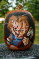 Chucky Child's Play Hand Painted Faux Pumpkin Horror Halloween Prop Decoration