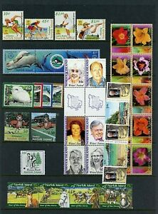 Norfolk Island #764//795 (NO018) Complete Sets, MNH, VF