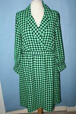 BNWT SIZE 16/18 VERA MODA GREEN PRINT DRESS