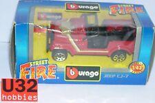 BURAGO STREET FIRE 4122 1/43 JEEP CJ-7  DIE CAST