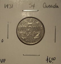 C Canada George V 1931 Five Cents -  VF