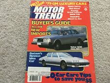 1978 BMW 733i, Volvo 262C, Pontiac Grand Le Mans Motor Trend Magazine