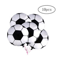 10Pcs Soccer Balloons 18 Inch Aluminum Foil Mylar Balloons for Home Party Decor