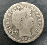 1898-S Barber Dime G Good Silver 10c Semi key date