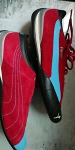 PUMA Driving shoes Turquoise Blue & Red Vintage Collector EUR 43 UK 9  US 10