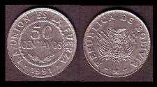 ★★ BOLIVIE ● 50 CENTAVOS 1991 ● E14 ★★