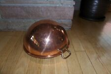 "Vintage Williams Sonoma Copper Beating Bowl w/ Loop Handle 11"" Diameter French"