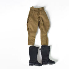 """1/6 Scale WWII German Breeches Pants Blk Riding Boots Uniform Set For 12"""" Figure"""