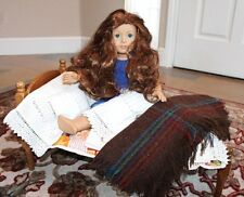 Antique Solid Wood American Girl Doll Bed Mattress Complete Bedding Pillows +