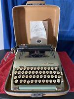 1950s Smith Corona Silent Super 5T Series Alpine Blue Portable Typewriter & Case