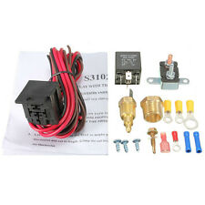 185~200 Engine Cooling Thermostat Sensor Relay Kit NEW For Single & Dual Fan