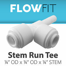 "Express Water Stem Run Tee 1/4"" Fitting Connection for Water Filters / RO System"