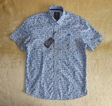 BNWT Mens State Of Art Regular Fit Floral Shirt Short Sleeve - Size M