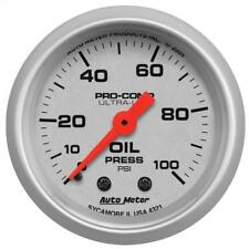 "Auto Meter Oil Pressure Gauge 4321; Ultra-Lite 0 to 100 psi 2-1/16"" Mechanical"